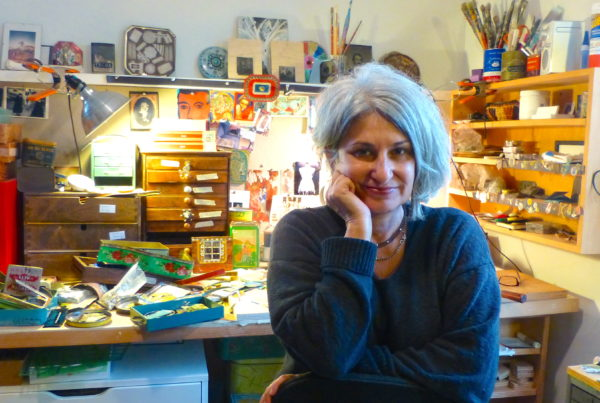 Nia Michaels in her studio. Photo by Pam Mandel.