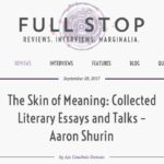 Aaron Shurin Full Stop Review