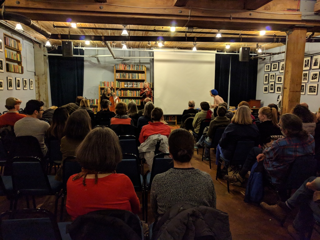 Melinda Mueller and Lori Goldston at Elliot Bay Books